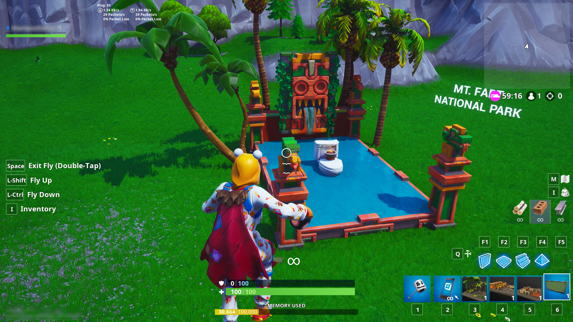 Fortnite Creative Mode Update v8 01: Water Cubes and Saved