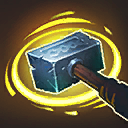 "Gathering Storm: <img src=""https://media.services.zam.com/v1/media/byName/hots/storm_ui_ingame_talentpanel_upgrade_quest_icon.png?site=hots""> Quest: Each time a Hero is hit by Hammerang, its damage is permanently increased by <span class=""value-color"">1.50</span> and it refunds <span class=""value-color"">10</span> Mana."
