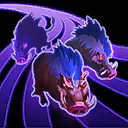 """Unleash the Boars: Release a herd of boars that track down all enemy Heroes in a direction, dealing <span class=""""value-color"""">114</span> damage, revealing, and slowing enemies by <span class=""""value-color"""">40</span>% for <span class=""""value-color"""">5</span> seconds."""