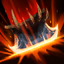"Guillotine: Zul'jin launches a massive axe into the air that drops on the targeted area, dealing <span class=""value-color"">343</span> damage plus bonus damage the lower his Health is."