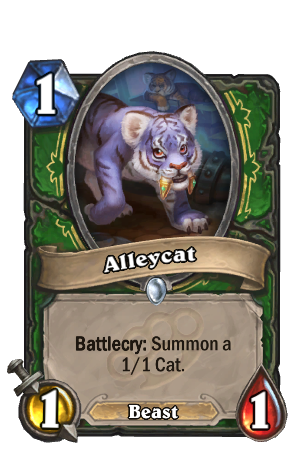Image of Alleycat Hearthstone Card