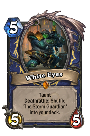 Image of White Eyes Hearthstone Card