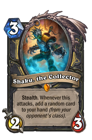 Image of Shaku, the Collector Hearthstone Card