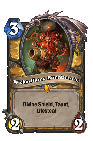 Image of Wickerflame Burnbristle Hearthstone Card