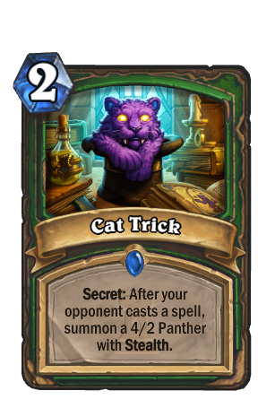 Image of Cat Trick Hearthstone Card