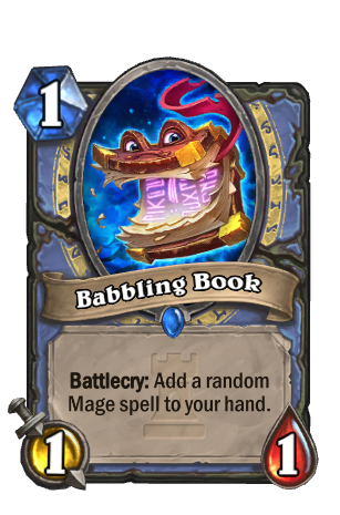 Image of Babbling Book Hearthstone Card