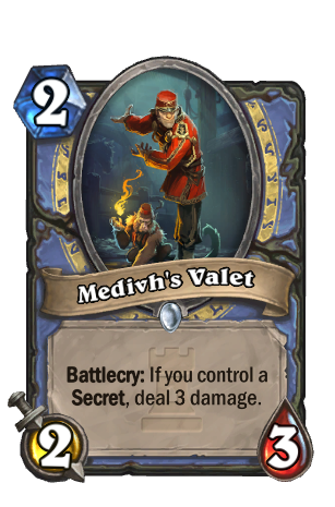 Image of Medivh's Valet Hearthstone Card