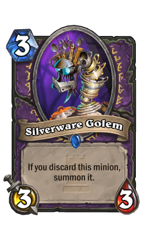 Image of Silverware Golem Hearthstone Card