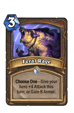 Image of Feral Rage Hearthstone Card
