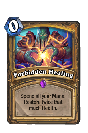 Image of Forbidden Healing Hearthstone Card