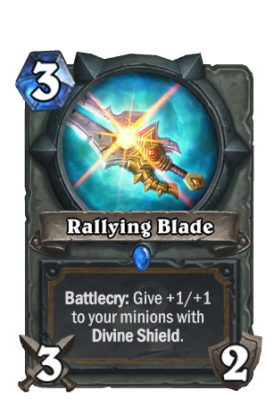 Image of Rallying Blade Hearthstone Card