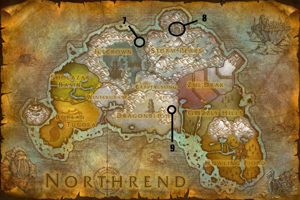 Hearthstone Northrend Map