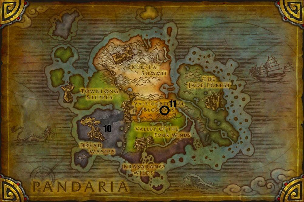 Hearthstone Pandaria Map